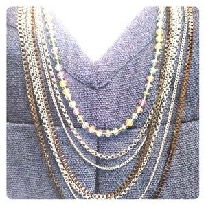 Cookie Lee Drop Chains/Beads Necklace